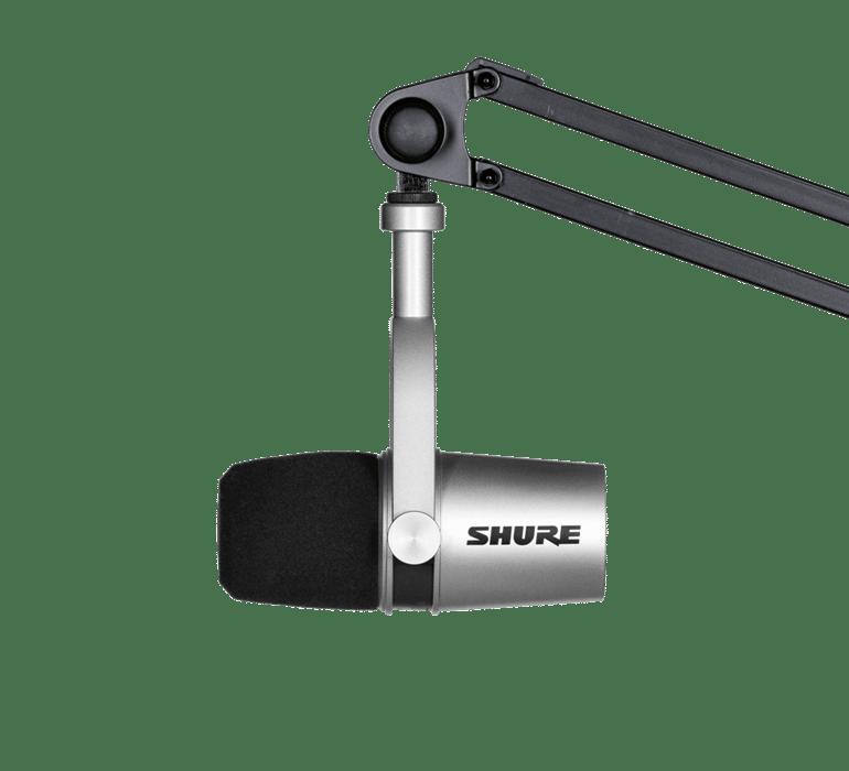 para Estudio y Aplicaciones Profesionales Plegables Almohadillas de Terciopelo Cable Desmontable SRH440 Auriculares de dise/ño Cerrado Shure MV7 Micr/ófono din/ámico USB//XLR Negro