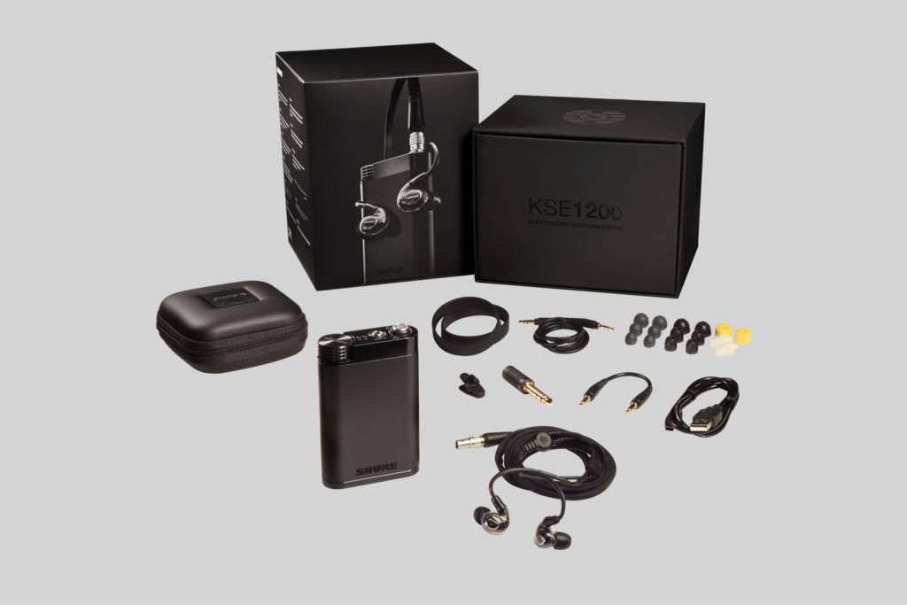 Ilustración Shure KSE 1500 Sistema de Audífonos Electrostáticos