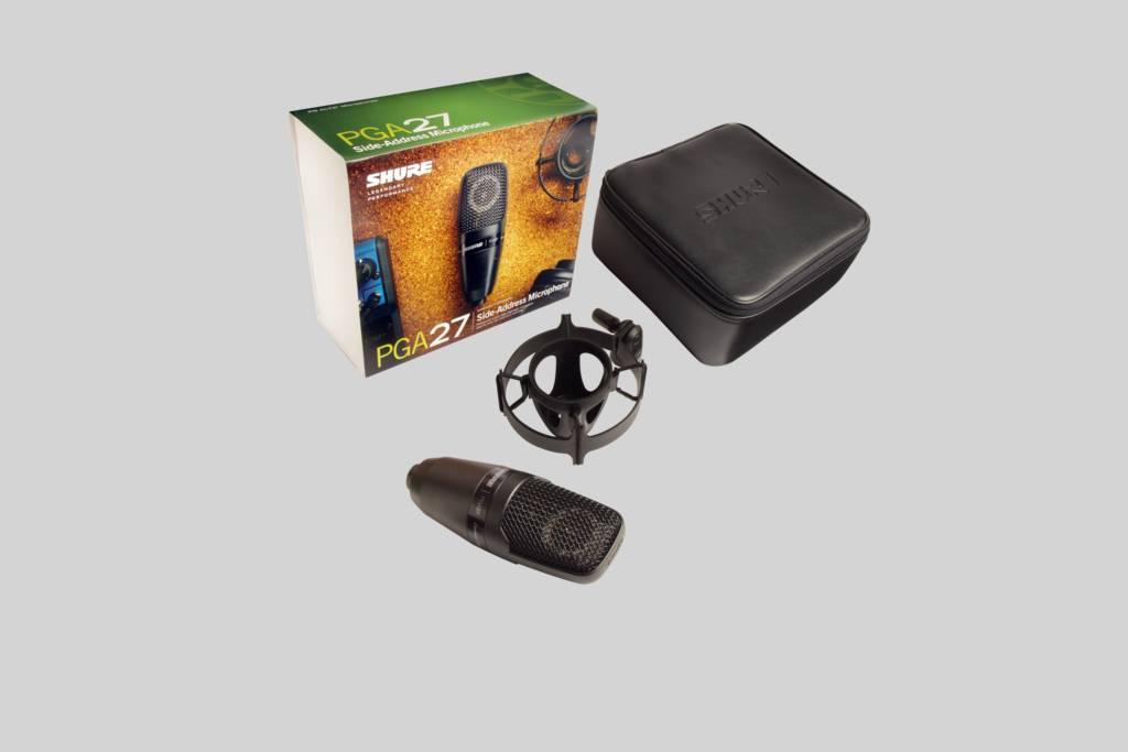 Immagine Shure PGA27 Microfono a Condensatore con Diaframma Largo  a Ripresa Laterale Cardioide