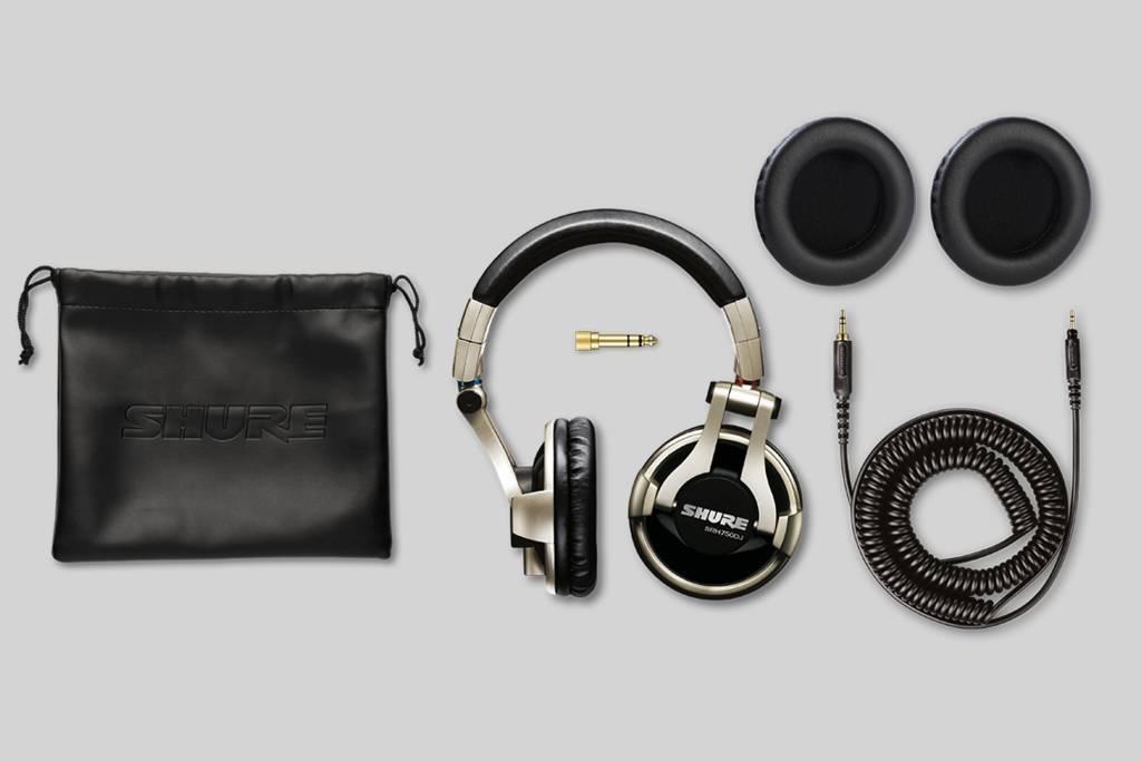 Ilustración Shure SRH750DJ Auriculares profesionales de DJ