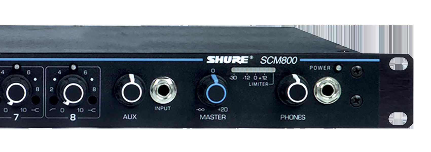 Ilustración Shure SCM800 Mezclador de micrófonos 8 canales