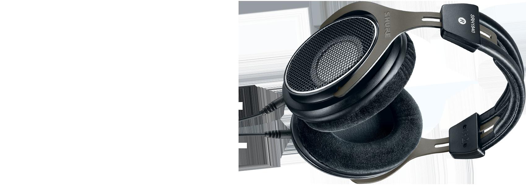 Ilustración Shure SRH1840 Auriculares profesionales de diseño abierto