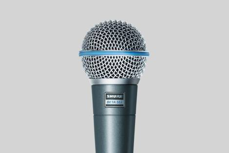 Ilustración Shure Beta 58A Vocal Microphone
