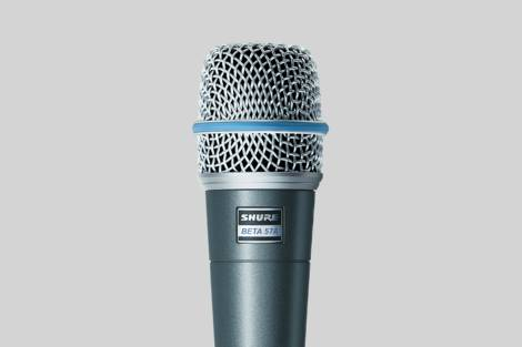 Ilustración Shure Beta 57A Dynamic Instrument Microphone